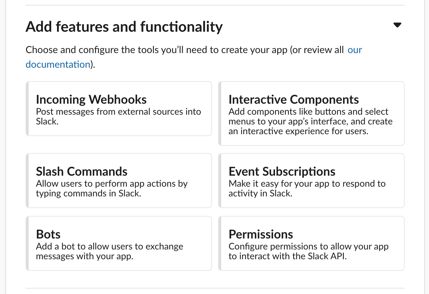 Features and Functionality of a slack app